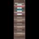 Dark Wood 10 Pocket File Storage Pocket Chart Alternate Image A