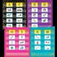 Confetti Colorful Magnetic Mini Pocket Charts Alternate Image A