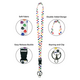 Colorful Paw Prints Lanyard Alternate Image D