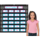 Chalkboard Brights 7 Pocket Chart Alternate Image B