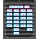Chalkboard Brights 10 Pocket Chart Alternate Image A