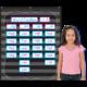 Chalkboard Brights 10 Pocket Chart Alternate Image B