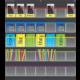 Black Polka Dots Storage Pocket Chart Alternate Image A