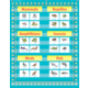 Light Blue Marquee 10 Pocket Chart Alternate Image A