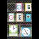 Chalkboard Brights 8 Pocket Small Storage Pocket Chart Alternate Image B