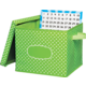 Lime Polka Dots Storage Box Alternate Image A