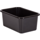 Black Small Plastic Storage Bin 6 Pack Alternate Image A