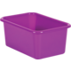 Purple Small Plastic Storage Bin 6 Pack Alternate Image A