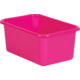 Pink Small Plastic Storage Bin 6 Pack Alternate Image A