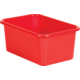 Red Small Plastic Storage Bin 6 Pack Alternate Image A
