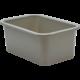 Gray Small Plastic Storage Bin 6 Pack Alternate Image A
