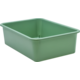 Eucalyptus Green Large Plastic Storage Bin 6 Pack Alternate Image A