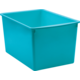 Teal Plastic Multi-Purpose Bin 6 Pack Alternate Image A