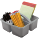 Gray Plastic Storage Caddy 6 Pack Alternate Image A