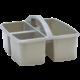 Gray Plastic Storage Caddy 6 Pack Alternate Image B