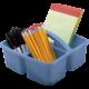 Slate Blue Plastic Storage Caddy 6 Pack Alternate Image A