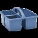 Slate Blue Plastic Storage Caddy 6 Pack Alternate Image B