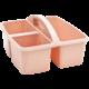 Blush Plastic Storage Caddy 6 Pack Alternate Image B