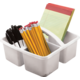 White Plastic Storage Caddy 6 Pack Alternate Image A