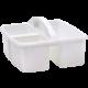 White Plastic Storage Caddy 6 Pack Alternate Image B