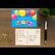 Happy Birthday Balloons Postcards Alternate Image B