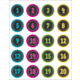 Chalkboard Brights Numbers Stickers Alternate Image A