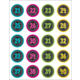 Chalkboard Brights Numbers Stickers Alternate Image B