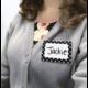 Black Polka Dots 2 Name Tags/Labels Alternate Image B