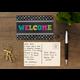 Chalkboard Brights Welcome Postcards Alternate Image B