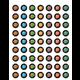 Stellar Space Mini Stickers Alternate Image A