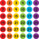"Spot On Numbers 1-36 Carpet Markers - 4"" Alternate Image A"