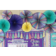 Iridescent Hanging Paper Fans Alternate Image A