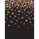 Colorful Confetti on Black Better Than Paper Bulletin Board Roll Alternate Image A