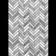 White & Gray Wood Herringbone Better Than Paper Bulletin Board Roll Alternate Image A