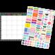 Clingy Thingies Chalkboard Brights Calendar Set Alternate Image A