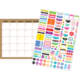 Clingy Thingies Burlap Calendar Set Alternate Image A