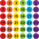 """Spot On Floor Markers Numbers 1-36 - 4"""" Alternate Image A"""