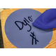 "Spot On Dry-Erase Desktop Writing Spots Painted Wood - 10-1/2"" Alternate Image C"