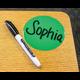 "Spot On Dry Erase Desktop Writing Spots Colorful Circles 4"" Alternate Image A"