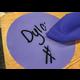 "Spot On Dry Erase Desktop Writing Spots Bright Circles 7"" Alternate Image B"