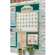 Rustic Bloom Calendar Bulletin Board Display Set Alternate Image A