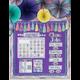 Iridescent Calendar Bulletin Board Display Alternate Image A