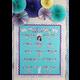 Iridescent Happy Birthday Mini Bulletin Board Alternate Image A