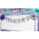 Iridescent Pennants Welcome Bulletin Board Display Alternate Image A