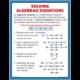 Algebraic Expressions & Equations Poster Set Alternate Image D