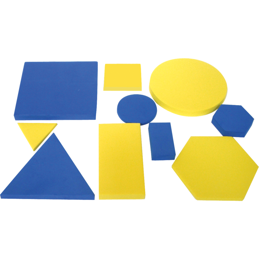 Attribute Blocks 5 shapes 2 thicknesses 2 sizes /& 3 colours  Teachers Resource