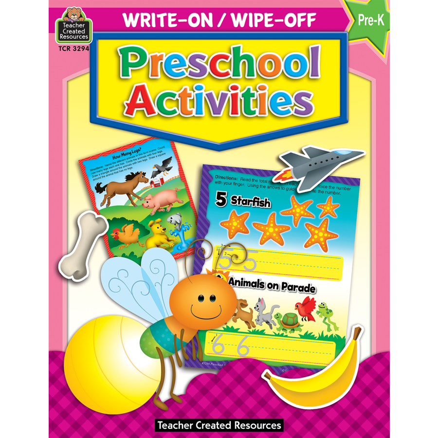 Preschool Activities Write-On Wipe-Off Book - TCR3294 ...