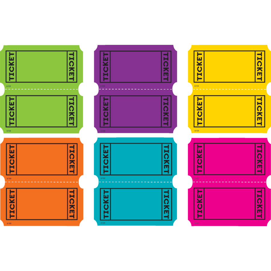 Bright Colors Tickets Mini Accents Tcr5794 Teacher Created Resources