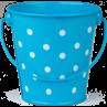 TCR20823 Aqua Polka Dots Bucket