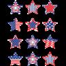 TCR5336 Patriotic Stars Mini Accents